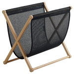 Magazine rack, oak - black