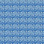 Marimekko Mini Unikko kangas, valkoinen - sininen
