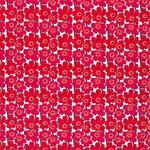 Marimekko Mini Unikko kangas, valkoinen - punainen