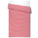 Tasaraita duvet cover, red-white