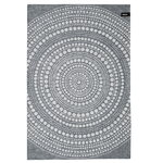 Kastehelmi tea towel, dark grey
