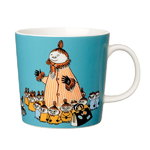 Arabia Moomin mug, Mymble's mother, turquoise