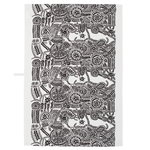 N�si� tea towel, black - white