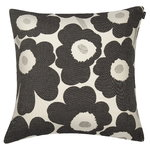 Pieni Unikko cushion cover, 40 x 40 cm, black-white