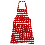 R�symatto apron, white-red