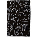 Saana ja Olli Onnenmaa tea towel/placemat, black