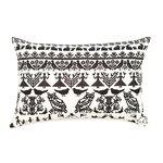 Saana ja Olli Y� mets�ss� interior pillow, small, white-black