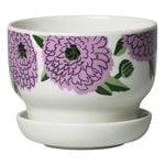 Oiva - Primavera plant pot, 13,5 cm, white - lilac - green