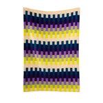 Røros Tweed Åsmund Bold throw, 200 x 135 cm, yellow - blue