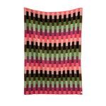Røros Tweed Åsmund Bold throw, 200 x 135 cm, pink - green