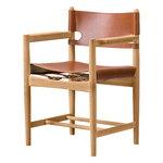 Fredericia The Spanish Dining Chair tuoli käsinojilla, konjakki nahka - ölj