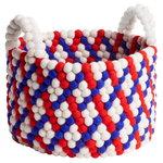 Bead kori kahvoilla, 40 cm, sininen - punainen - valkoinen