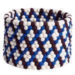 Bead kori, 40 cm, burgundi - sininen - valkoinen