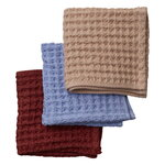 Nuppu Junior towel set, lingonberry - blueberry - cloudberry