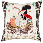 Woodpeckers cushion cover, velvet