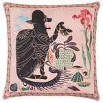 Les Chats Monster cushion cover, linen