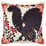 Grouse in the Woods cushion cover, linen-cotton, white