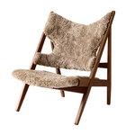 Knitting Chair nojatuoli, pähkinä - lampaantalja Cork 19