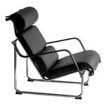 Yrjö Kukkapuro Remmi lounge chair, chrome - black leather