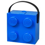Lego lunch box with handle, blue