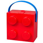 Lego lunch box with handle, red