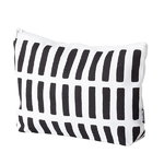 Siena pouch, large, white, black