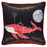 Cosmic Whale with Lilac Planet cushion cover