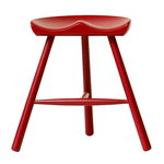 Form & Refine Shoemaker Chair No. 49 stool, red brown