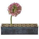 Klong Äng vase, rectangular, brass
