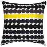 Marimekko Räsymatto tyynynpäällinen, valkoinen-musta-harmaa-keltainen