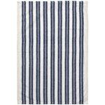 Ferm Living Hale tea towel, off white - blue