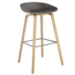 Hay About A Stool AAS32, grey - lacquered oak, PU lacquer