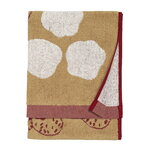 Marimekko Kaksoset hand towel, beige - burgundy