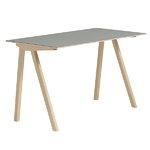 Hay CPH90 työpöytä, mattalakattu tammi - harmaa lino, PU lakka