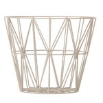 Ferm Living Wire basket, medium, grey