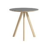 Hay CPH20 pyöreä pöytä 50 cm, mattalakattu tammi - harmaa lino