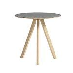 Hay CPH20 round table 50 cm, matt lacquered oak - grey lino, PU lacq