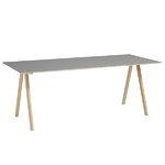 Hay CPH10 table 160x80 cm, matt lacquered oak - grey lino