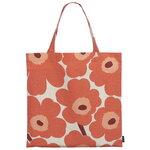 Marimekko Pieni Unikko bag, cotton - orange - burgundy