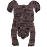 MUM's Bear rug, dark brown