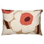 Marimekko Unikko tyynynpäällinen 40 x 60 cm, beige - puuvilla - oranssi