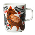 Marimekko Oiva - Ketunmarja mug 2,5 dl,  white - brown - black