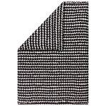 Marimekko Copripiumone Räsymatto 150x210 cm, bianco - nero