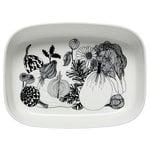 Marimekko Oiva - Siirtolapuutarha serving dish, white-black
