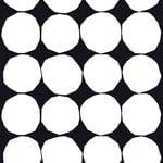 Marimekko Kivet kangas, musta-valkoinen
