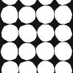 Marimekko Tessuto Kivet, nero e bianco