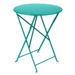 Fermob Bistro table 60 cm, lagoon blue