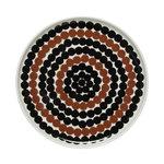 Marimekko Oiva - Siirtolapuutarha Räsymatto plate 20 cm, brown-black