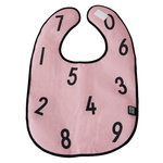 Design Letters The Numbers bib, pink