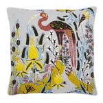 Klaus Haapaniemi Crane cushion cover, linen-cotton, grey